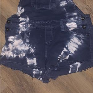 Empyre Jeans - Empyre Taryn Cropped Tie Dye Overalls